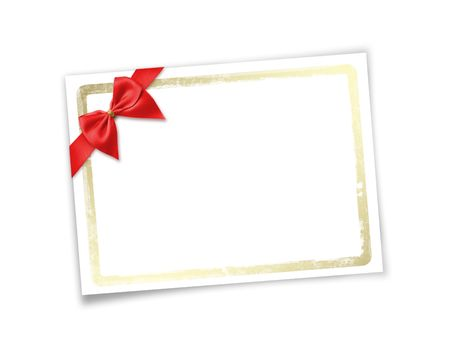 Card for invitation or congratulation to holiday. White isolated background. Stock Photo - 6005716