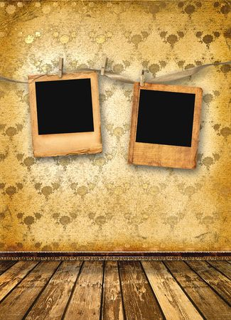 Old alienated slides on the wall in the room Stock Photo - 6005714