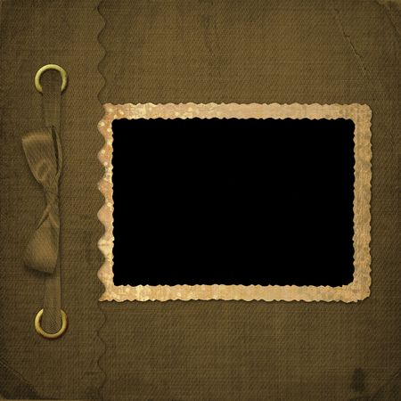 photo album cover: Brown cover for an album with photos Stock Photo