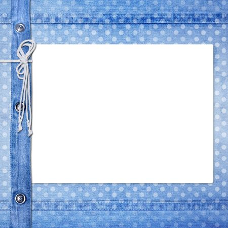 rivet: Abstract blue jeans background with rivet for design Stock Photo