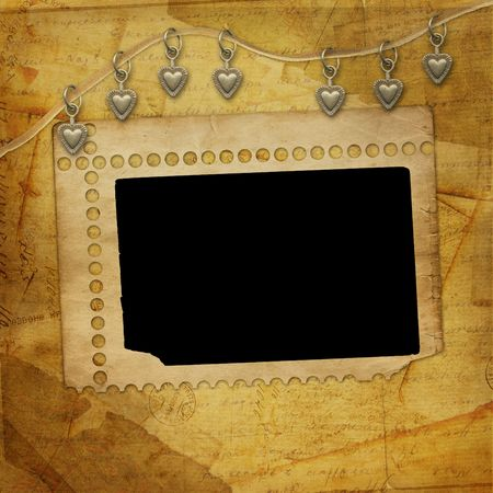 Alienated frame for photo on the abstract background Stock Photo - 6116644