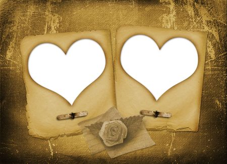 Card for congratulation or invitation with hearts for photo photo