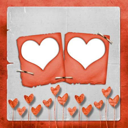 wedlock: Card for congratulation or invitation with hearts