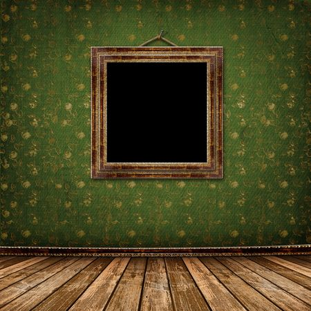 Old gold frames Victorian style on the wall in the room Stock Photo - 6225844