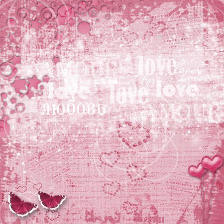 Valentines day card with hearts for congratulation to holiday photo