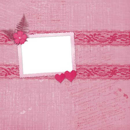 wedlock: Valentines day card with hearts for congratulation to holiday Stock Photo
