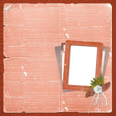 alienated: Alienated frame for photo on the abstract background Stock Photo