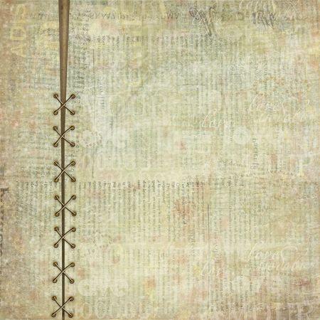 oude krant: Grunge dekking voor album of portefeuille op de achtergrond van de krant