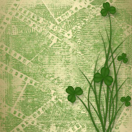 Design for St. Patricks Day. Flower ornament. photo