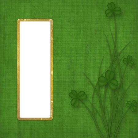 Design for St. Patrick's Day. Flower ornament.
