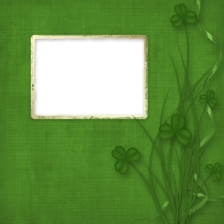 Design for St. Patricks Day. Flower ornament. photo
