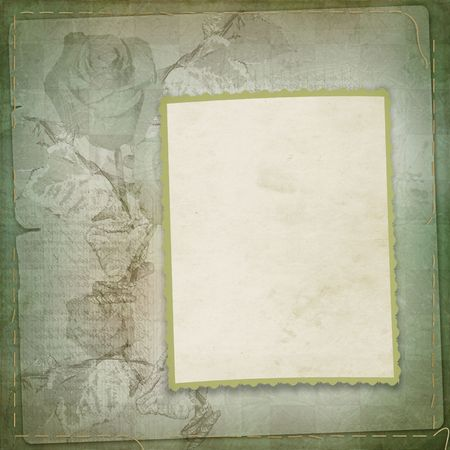 abloom: Abstract  floral background with paper frame for photo or text