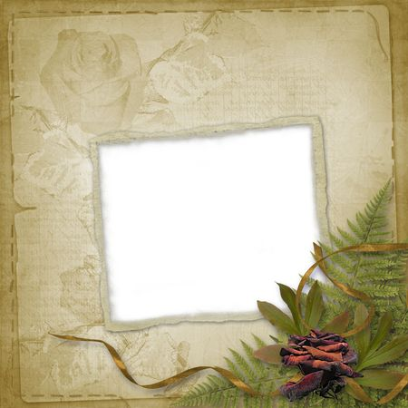 abloom: Abstract  floral background with bunch of flower and frame Stock Photo