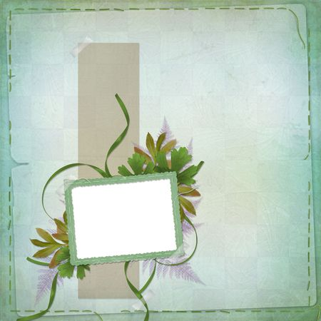 abloom: Abstract background with bunch of flower and frame Stock Photo