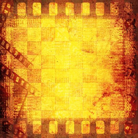 Old filmstrip on the paper abstract background Stock Photo - 6466628