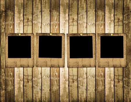 Old slides on the abstract wooden background Stock Photo - 6505784