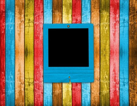 Old slides on the abstract wooden background Stock Photo - 6505786