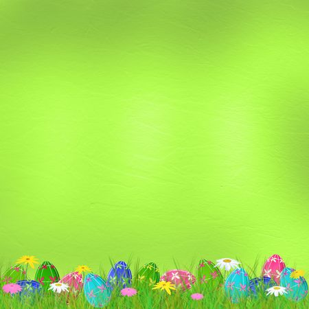 ovum: Pastel background with colored eggs to celebrate Easter