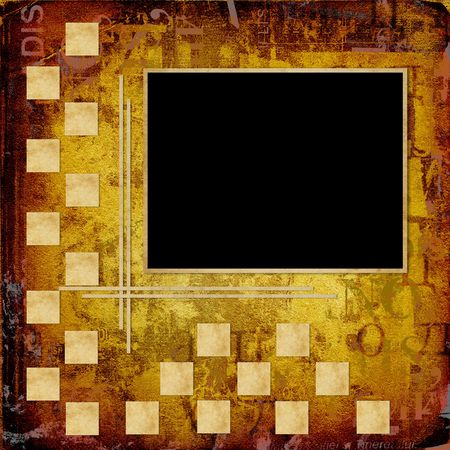 alienated: Grunge frameworks for invitation on the vintage abstract background