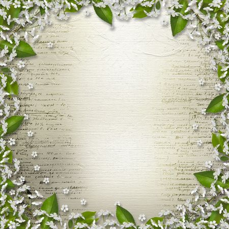 Writing abstract background  with  floral beautiful bouquet Stock Photo - 6590999