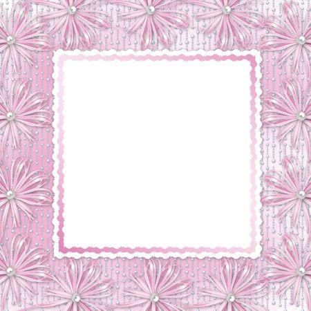 wedding photo frame: Carta per invito o Congratulazione con arco e nastri
