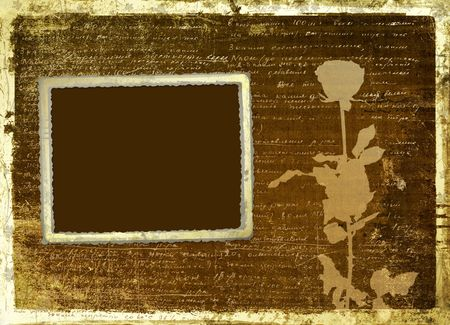 Ancient scratch abstract background with handwrite text for design photo