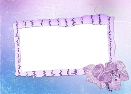 buttonhole: Card for invitation or congratulation with buttonhole Stock Photo