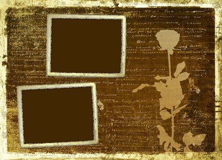 handwrite: Ancient scratch abstract background with handwrite text for design