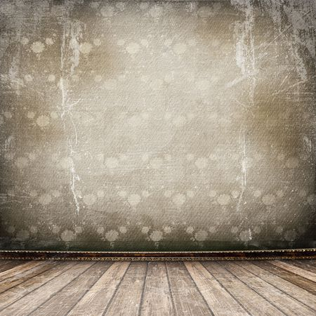 Old room, grunge industrial inter, worn surface Stock Photo - 6656784