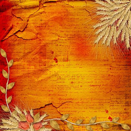 Grunge paper in scrapbooking style with bunch of rose photo