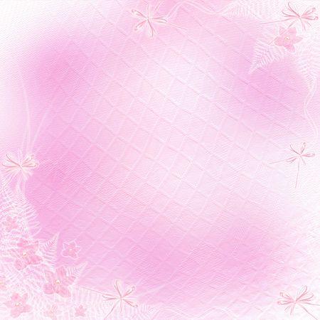 Tarjeta de invitación o felicitación con orquídeas y arco