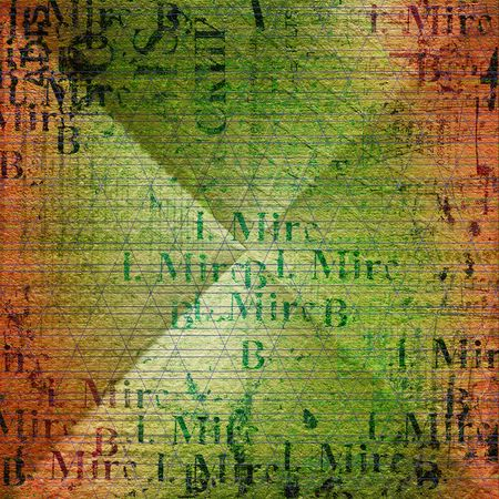 grunge frame from old paper on the abstract background photo