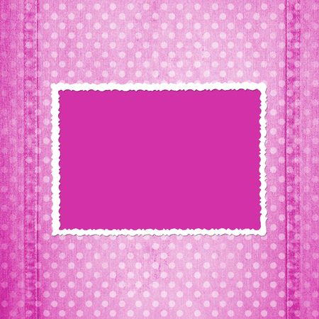 western pattern: Abstract pink jeans background with fretted frame