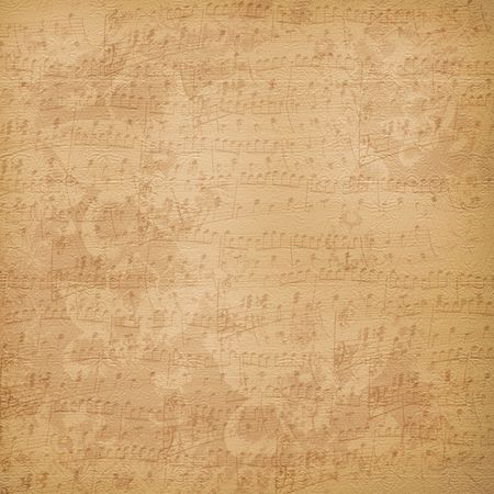 threadbare: Old alienated musical paper in scrapbooking style for design