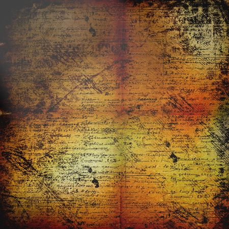 handwrite: Ancient crumpled abstract background with handwrite text for design