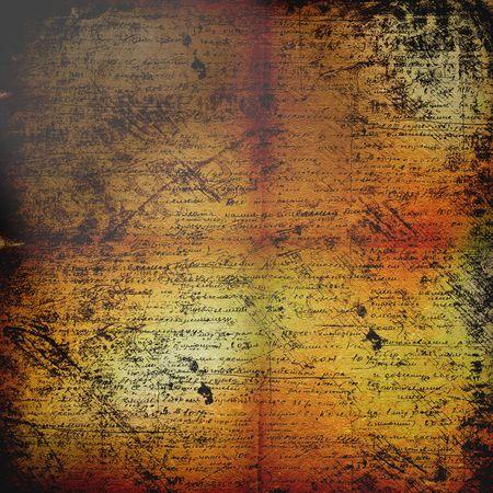rękopis: Starożytnych pomarszczenia tÅ'a abstrakcyjne z pismo rÄ™czne tekst dla projektu