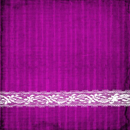 lilac card for invitation or congratulation with lace photo