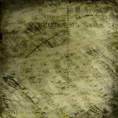 fonts music: Abstract ancient background with letters and notes in Victorian style