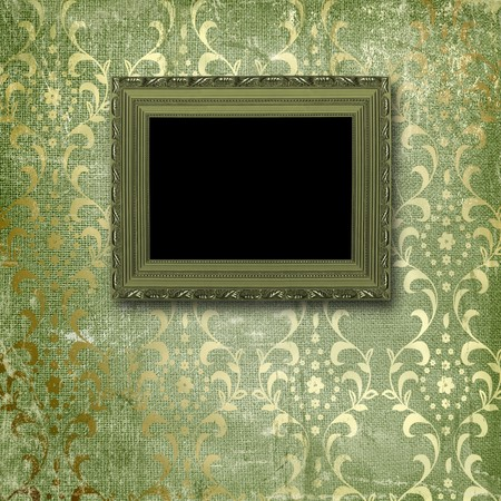 Old gold frames Victorian style on the wall in the room Stock Photo - 6960480