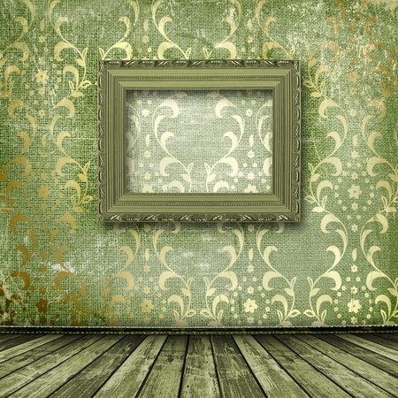 Old gold frames Victorian style on the wall in the room Stock Photo - 7054938