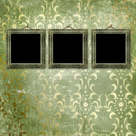 Old gold frames Victorian style on the wall in the room Stock Photo - 7054976