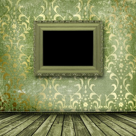 Old gold frames Victorian style on the wall in the room Stock Photo - 7112037