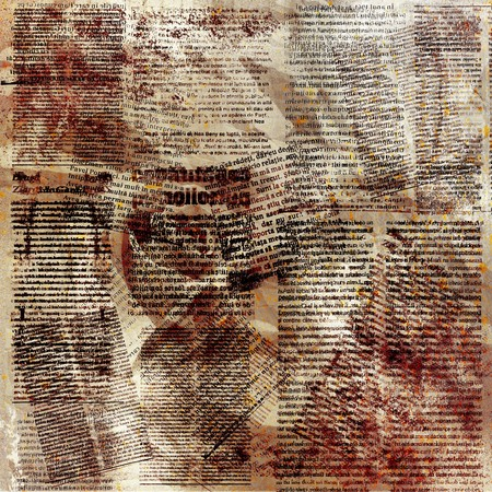 daily newspaper: Grunge abstract paper background for design. Illustration