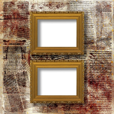 Old grunge frames Victorian style on the abstract background Stock Photo - 7137516