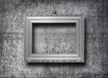Baroque picture frame: grunge int�rieur avec cadre dans le style baroque
