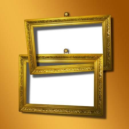 grunge  inter with frame in style baroque Stock Photo - 7303281