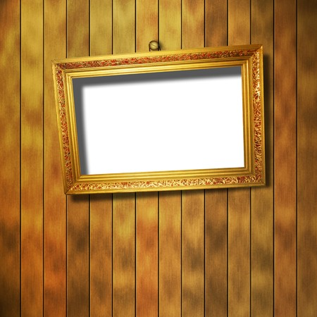 grunge  interior with frame in style baroque Stock Photo - 7303286
