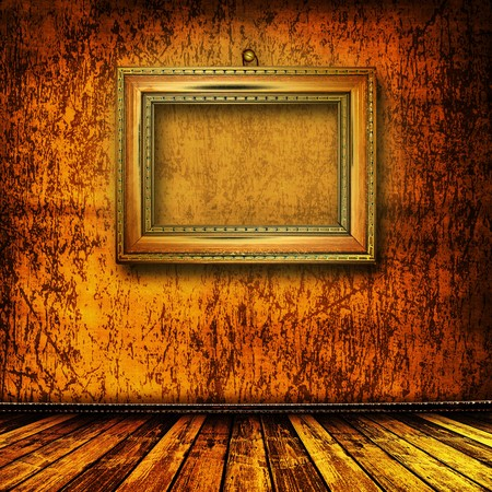 grunge  interior with frame in style baroque Stock Photo - 7327123