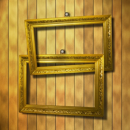 grunge  interior with frame in style baroque Stock Photo - 7327113