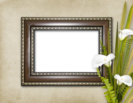 Old grunge frames Victorian style on the abstract background photo